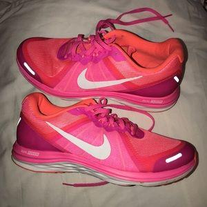 Hot pink nike sneakers